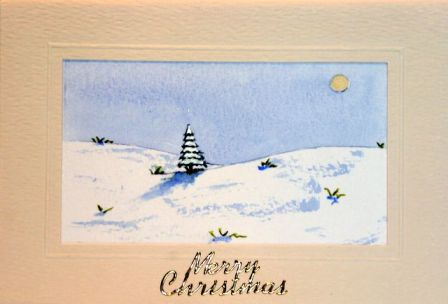 christmas tree scene1 card