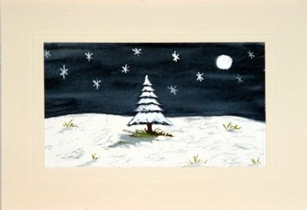 Handmade Christmas cards, Hand painted Christmas cards,Christmas day night scene,Christmas greetings cards,handmade Christmas greetings cards,handmade christmas greeting cards,making