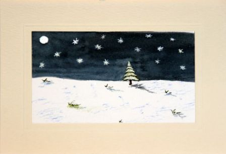 Handmade Christmas cards, Hand painted Christmas cards,Clear night after the snowfall,Christmas greetings cards,handmade Christmas cards,handmade Christmas greetings cards,handmade christmas greeting cards,making