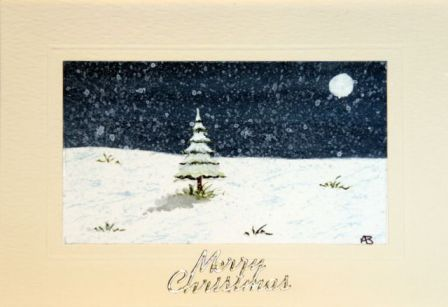 christmas snow scene card