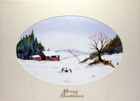 Christmas snowscene card