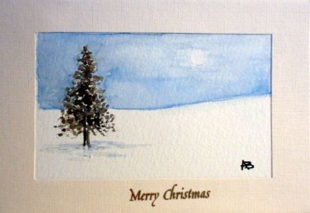 Arts and crafts watercolour christmas cards handmade christmas cards handmade christmas cards hand painted christmas cardssnow covered town at christmaschristmas m4hsunfo