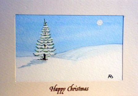hand made christmas tree cards