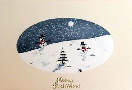 Christmas Greetings Snow scene card