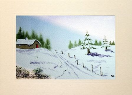 Arts and crafts watercolour christmas cards make your Christmas card scenes to paint