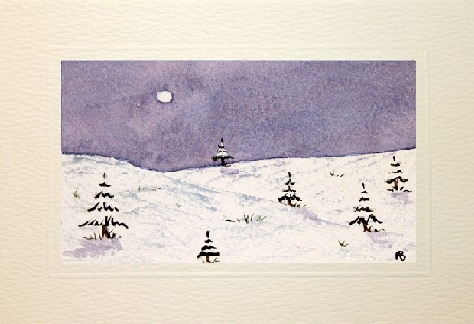 Cold winters day card