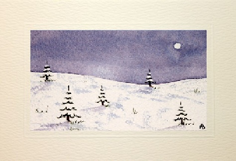 Christmas in the snow card