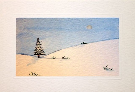 Handmade Christmas cards, Hand painted Christmas cards,Winter snow scene,Christmas greetings cards,handmade Christmas cards,handmade Christmas greetings cards,handmade christmas greeting cards,making