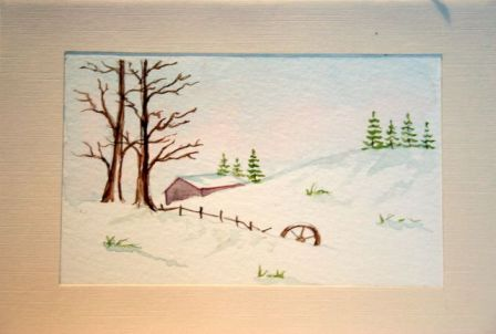 Crafted water colour christmas greetings cards