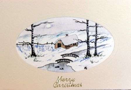 Handmade Water Color Christmas cards