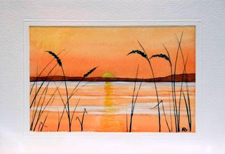 sun set greetings cards hand made
