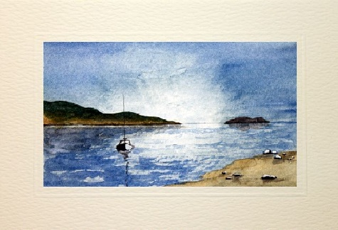 Water Color seascape greetings cards