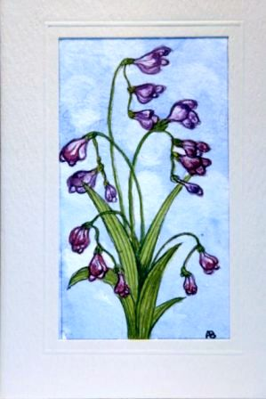 Violet coloured flower greetings cards,handmade cards,handmade greetings cards,handmade greeting cards,making