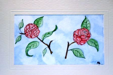 Floral Birthday card hand painted in the finest watercolour medium