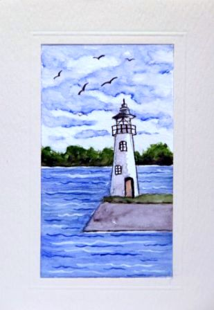 Lighthouse Seagulls Ocean Greetings