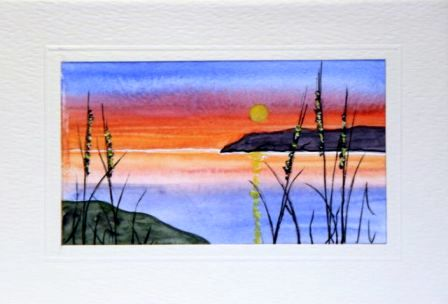Sunset Water Color greetings cards