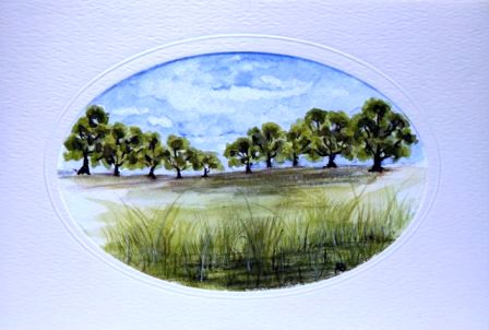 Row of trees greetings cards,handmade cards,handmade greetings cards,handmade greeting cards,making