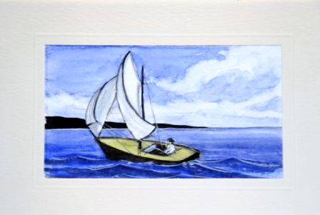 Wind in the sails boating card