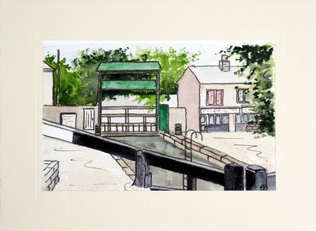 Canal lock Hebdon Bridge Birthday Cards