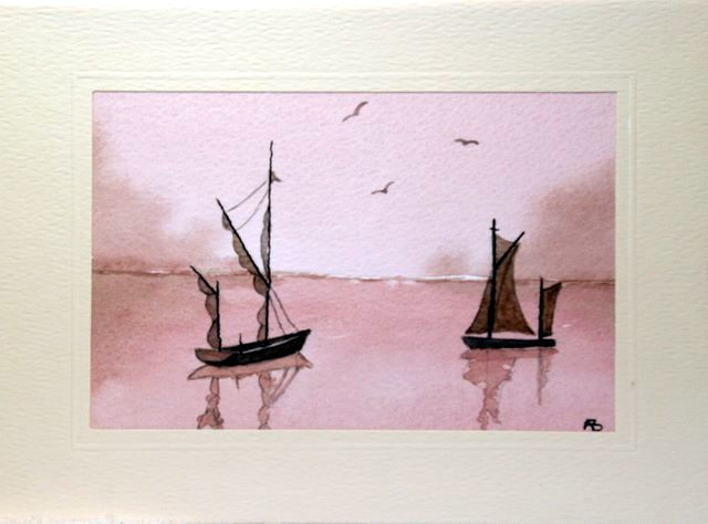 Twin Sails greeting cards