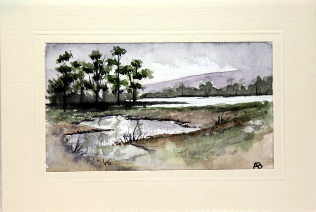 Watercolour landscape card