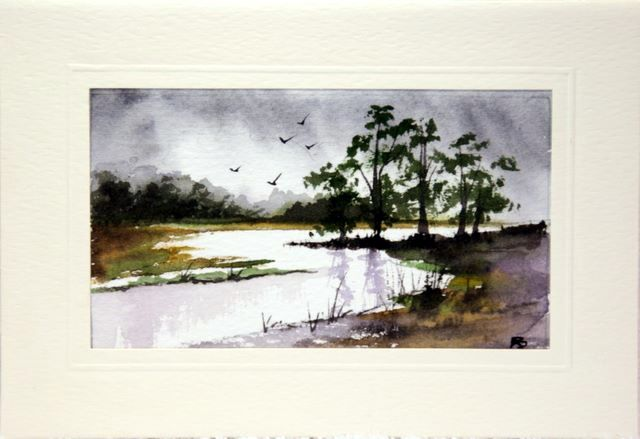 Lanscape scene Water Color greetings cards