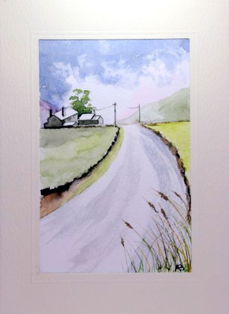 Road over morrland greetings cards,handmade cards,handmade greetings cards,handmade greeting cards,making