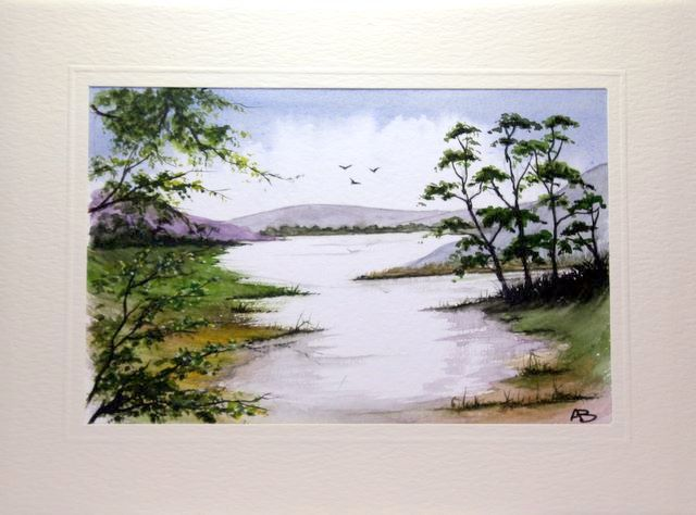 wt in wet painting of a lakeland scene