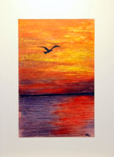 Single bird flying over the sunset sea greetings cards,handmade cards,handmade greetings cards,handmade greeting cards,making greeting cards,card making,make your own,card making,make greeting cards,homemade cards,birthday cards,christmas cards,hand made greeting card,greeting cards,Free e-cards, printable birthday cards