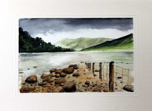 Wastwater lake Water Color greetings cards