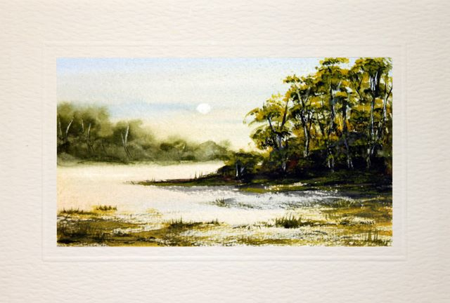 hand painted, landscape, watercolour, greeting card