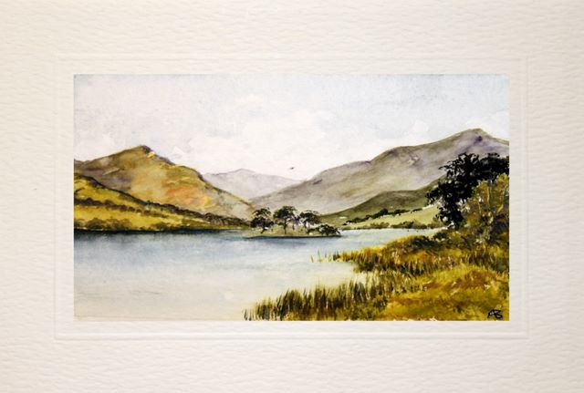 Handmade Water Color greetings cards lake windermere