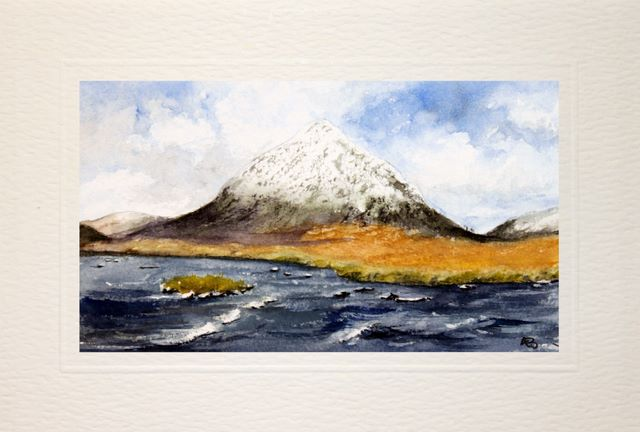 Handmade Water Color greetings cards, Glencoe and Rannoch Moor
