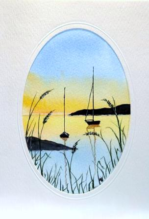 Boats through the long grass