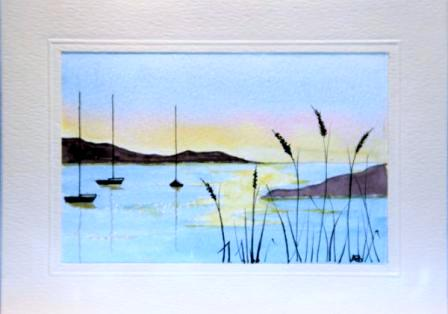 Landscape watercolour card