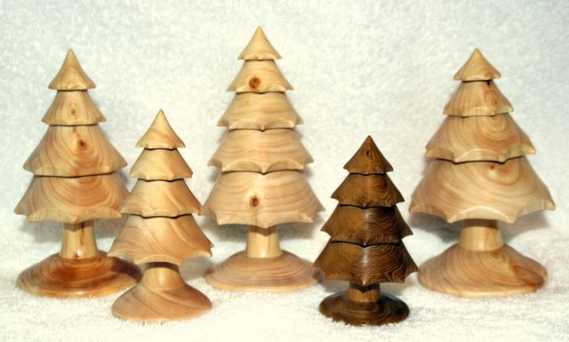 You can also choose from a selection of christmas trees hand turned