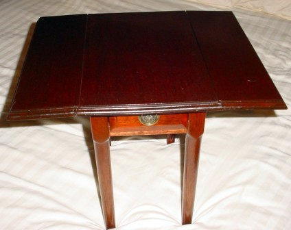 Pair of handmade hardwood chairside tables