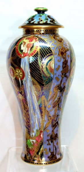 Wedwood Fairyland Lustre - Candlemas Lidded Vase