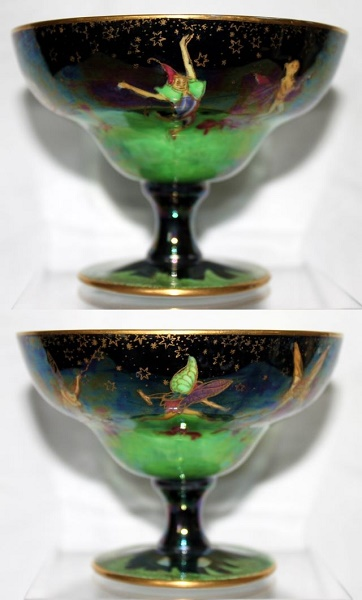 Wedgwood Fairyland Lustre  - Leep Frogging Elves Footed Bowl