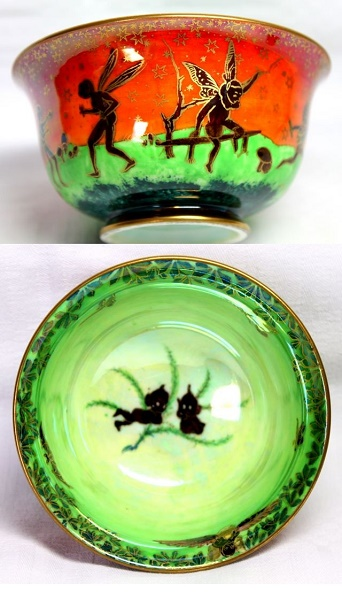 Arts and Crafts - Wedgwood Fairyland Lustre  - Leep Frogging Elves Daytime Pattern