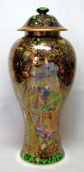 Wedgwood Fairyland Lustre - Lidded Vase - Jewelled Tree Pattern