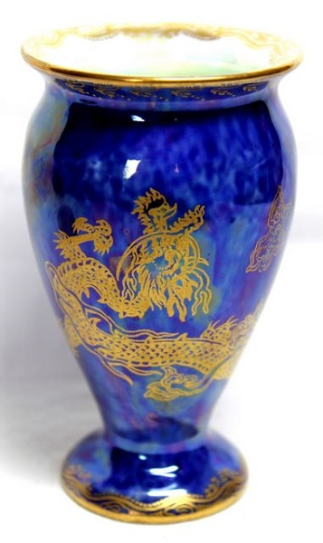 Blue Dragon Wedgwood Lustre Vase