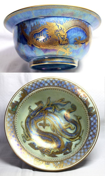 Decorative Dragon Wedgwood Lustre Bowl