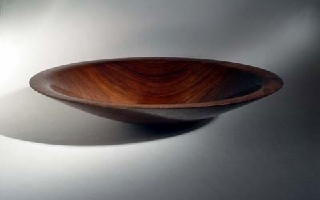 woodturned walnut bowl
