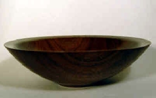 hand turned walnut bowl