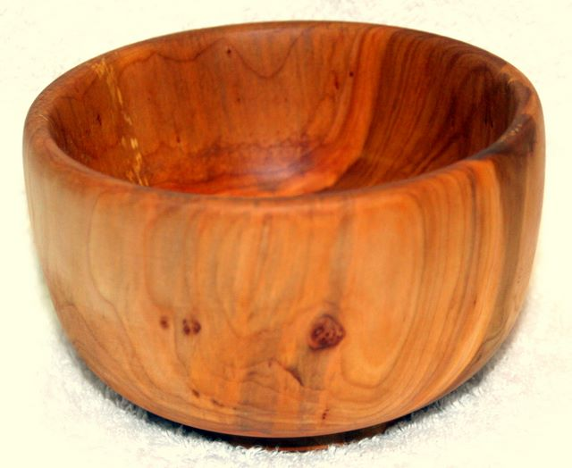 Hand turned Willow Salad Bowl