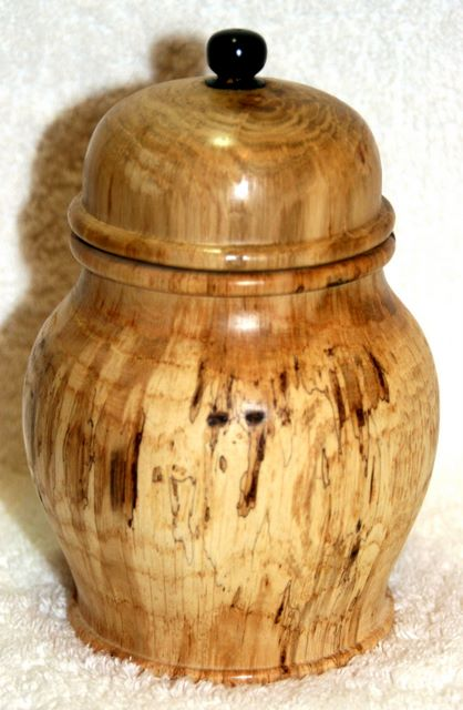 Arts and Crafts - Spalted Oak Jar woodturning, woodturnings, turning, turnings, turnery, turner, turners, woodturner, woodturners, lathe, lathes, wood, woodwork, woodworking, workshop, workshops, creative, creativity, trees