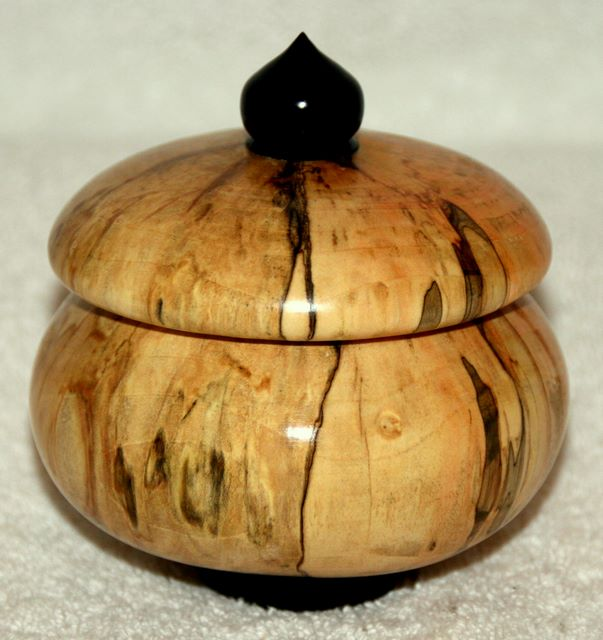 Hand Turned lidded Storage Pot