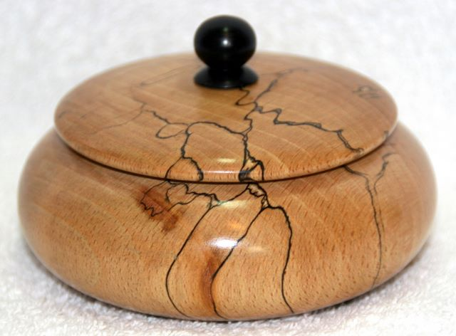 Spalted beach lidded box woodturning, woodturnings, turning, turnings, turnery, turner, turners, woodturner, woodturners, lathe, lathes, wood, woodwork, woodworking, workshop, workshops, creative, creativity, trees