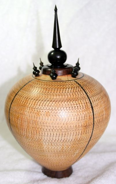 Handturned Hollow Form Vase